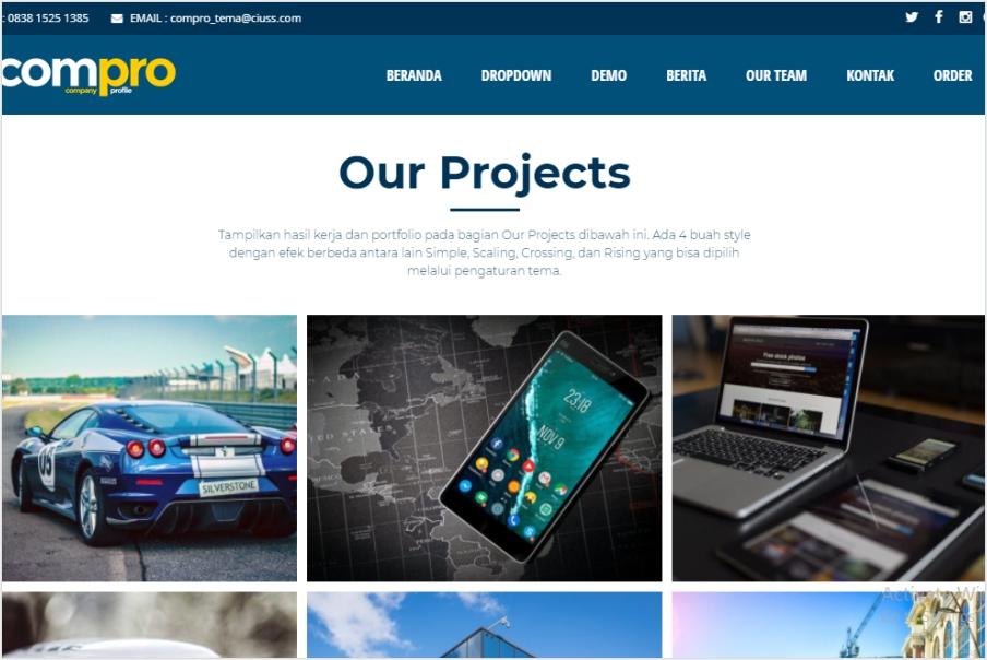 Theme Web Bisnis
