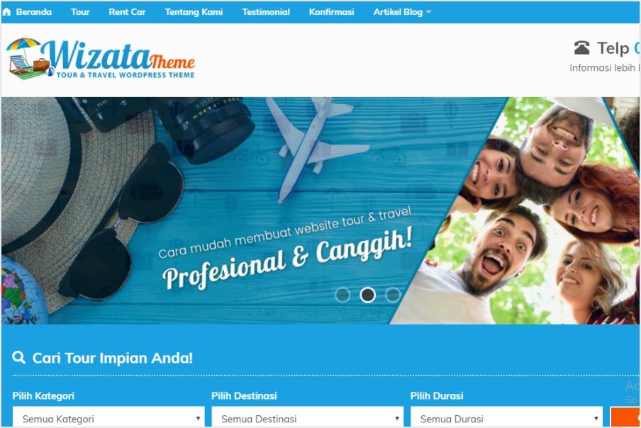 jasa pembuatan website tour travel dan wisata