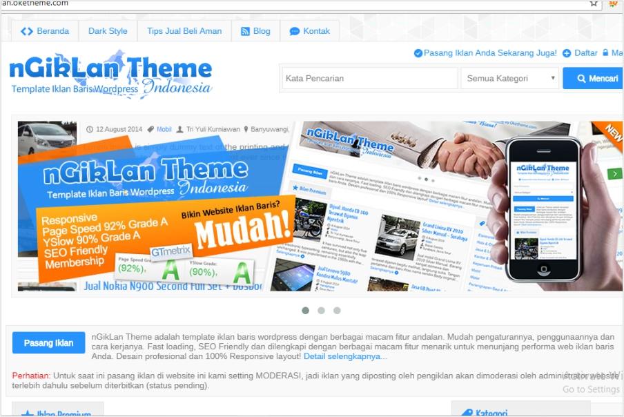 pembuatan website iklan baris