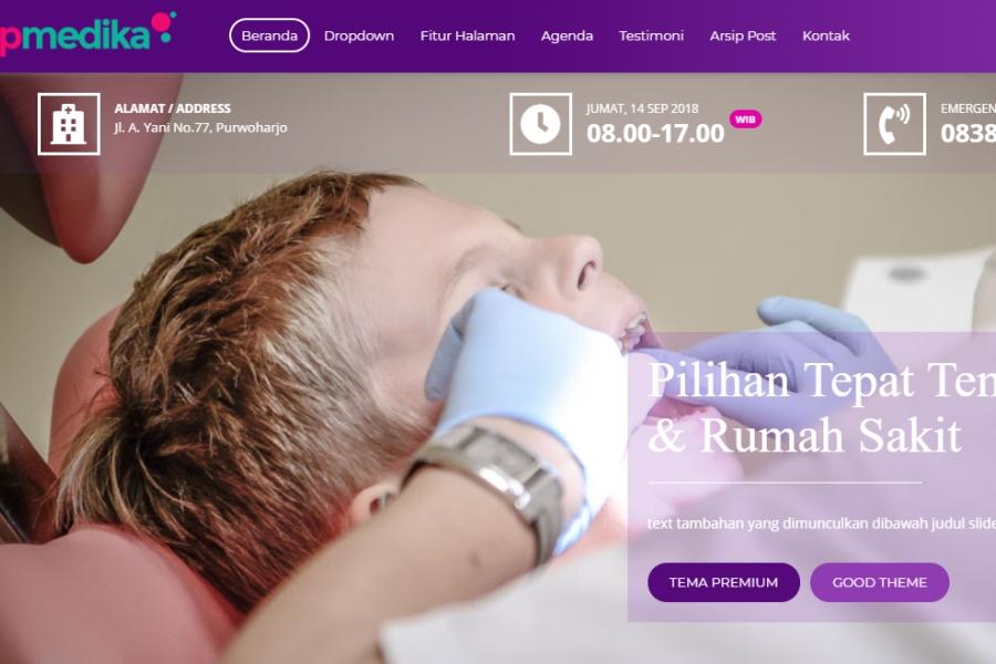 theme web klinik rumah sakit